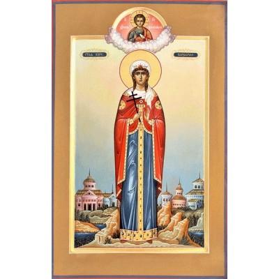 Мерная (ростовая) Икона Святая Великомученица Варвара