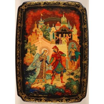 "Лаковая миниатюра ""Князь Гвидон и царевна лебедь"""