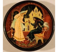 """Лаковая миниатюра """"Сказка о спящей царевне"""""""
