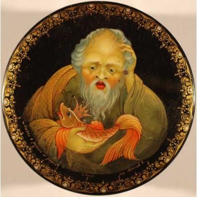 """Лаковая миниатюра """"Сказка о рыбаке и рыбке"""""""