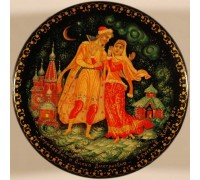 "Лаковая миниатюра ""Кирибеевич и Алена Дмитриевна"""