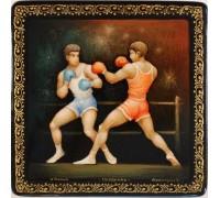 """Лаковая миниатюра """"Поединок. Бокс"""""""