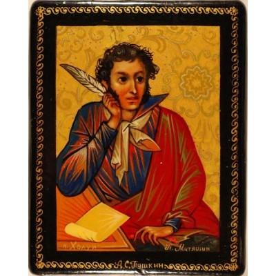 """Лаковая миниатюра """"А.С. Пушкин"""""""